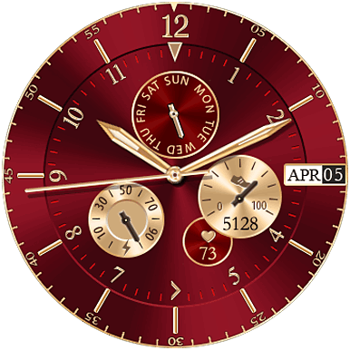 Glossy Classic Watch Face