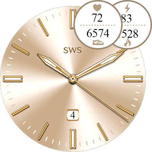 Glossy Rose Gold Watch Face