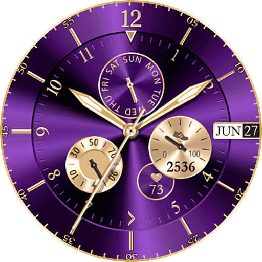Purple Glossy Live Watch Face